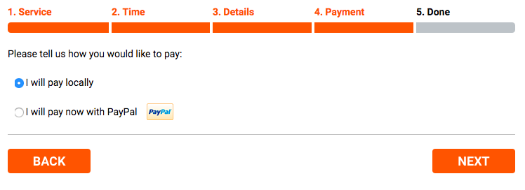 Bookly booking form - step 4