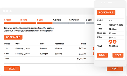 Mobile-friendly Bookly booking form