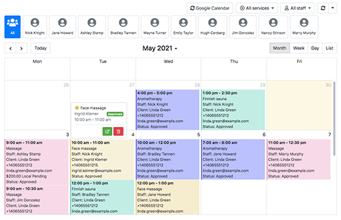 Full two-way sync with Google Calendar