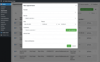 Filterable, sortable and searchable booking list