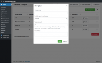 Organize clients into groups