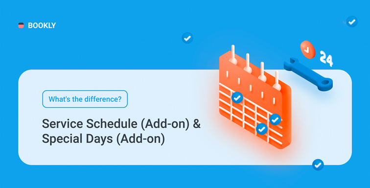 What's the difference between Service Schedule (Add-on) & Special Days (Add-on)